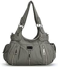 Scarleton Satchel Handbag for Women, Ultra Soft Washed Vegan Leather Crossbody Bag, Shoulder Bag, Tote Purse, Ash, H129224