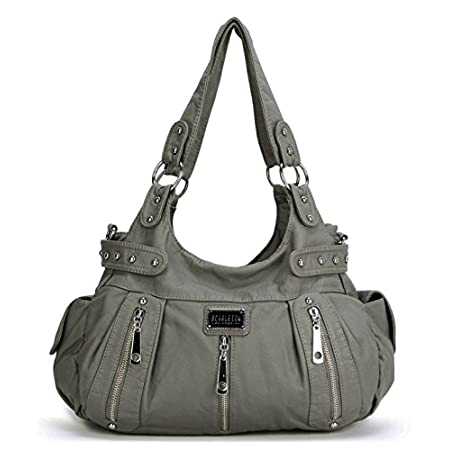 Fashion Shopping Scarleton Satchel Handbag for Women, Ultra Soft Washed Vegan Leather Crossbody Bag,