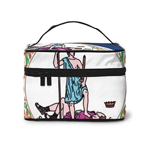 Virginia State Flag Travel Makeup Train Case Makeup Cosmetic Case Organizer Portable Artist Storage Bag