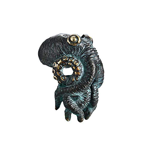 Paracord Bead Hand-Casted Cthulhu octopus Bronze Charms EDC Accessories for Pendant Buckle,Keychain Pendant,Knife Lanyard,Zipper Pull