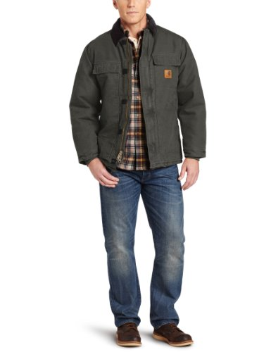 Carhartt Workwear Sandstone Manteau de travail traditionnel, grün, Large