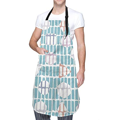 N\A Geo Dashes Cuisine Unisexe vêtements à la Maison Tabliers durables avec Cou réglable pour la Cuisson du Jardinage Cuisson
