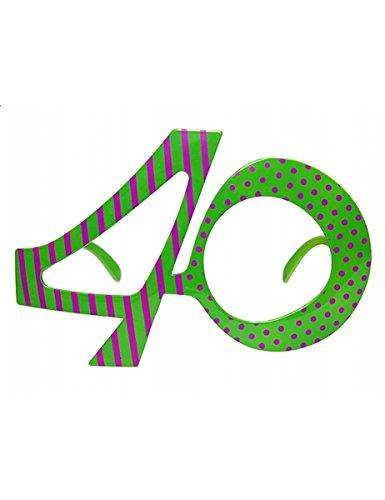Partydeco Gafas con Forma de número 40.