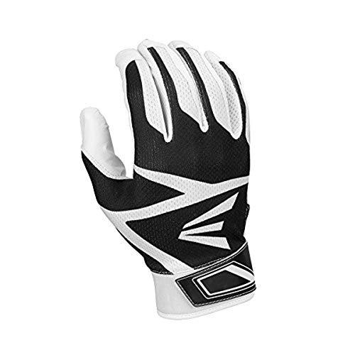 Easton Z3 Hyperskin Youth Batting Gloves, White/Black, Tee-A