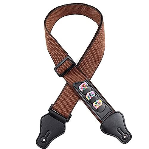 Cintura per Basso, Tracolla per Chitarra Cotone 5 cm di Larghezza e Regolabile da 95 cm a...