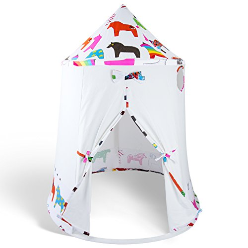 kit tents Teepee Tent for Kids Kit Made of Canvas with Pattern, Our Tents are Great for Camping Indoor Your Kid will Play for Hours Inside Our Indian Playhouse Teepees By Upbeat Moods