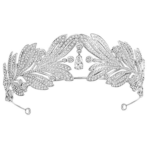 Lurrose Tiara Nupcial Corona Rhinestone Nupcial Tocado Cristal Boda Tiara Diadema Nupcial...