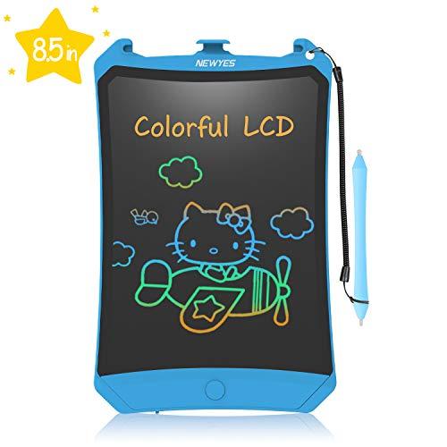 NEWYES LCD Schreibtafel, Buntes Display 8,5 Zoll Kinder Zeichentafel (Blau)