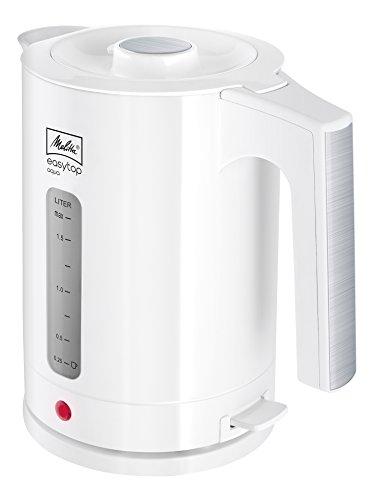 Melitta Wasserkocher, Easy Top Aqua 1,7 Liter, 2.400 Watt, Weiß/Edelstahl 1016-03