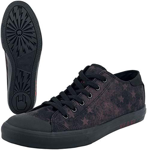 RED by EMP Walk On Unisex Sneaker schwarz/Bordeaux EU45 Baumwolle Basics, Streetwear