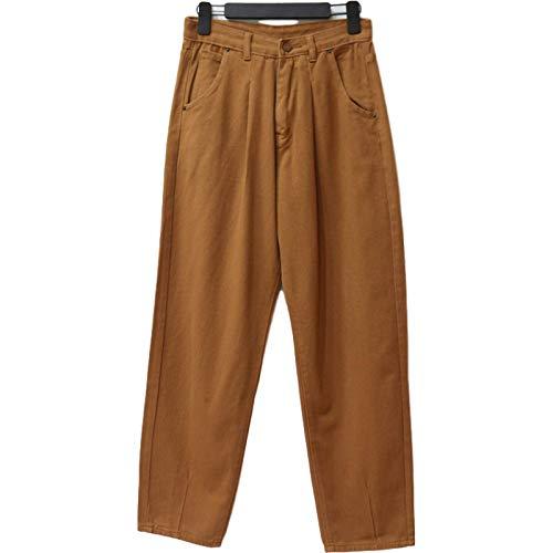 Katenyl Pantalones Harem Sueltos Casuales para Mujer Pantalones Vaqueros de Cintura Alta de Moda de Primavera Europea y Americana, con Bolsillo M