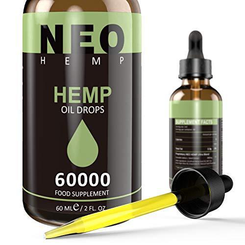 Premium Oil, Vegan Friendly, Advanced Formula from USA (60000MG/60ML)