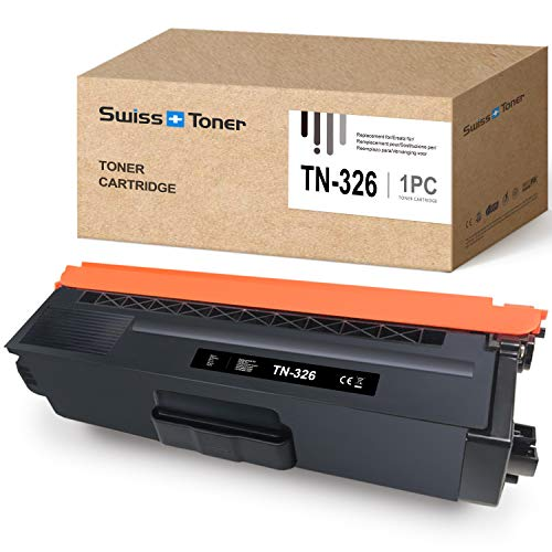 SWISS TONER 1 Schwarz TN-326 Tonerkartusche Kompatibel für Brother MFC-L8650CDW HL-L8250CDN HL-L8350CDW MFC-L8850CDW MFC-L8600CDW DCP L8400CDN DCP L8450CDW HL-L8250CDW HL-L8350 HL-L8350CDWT Drucker