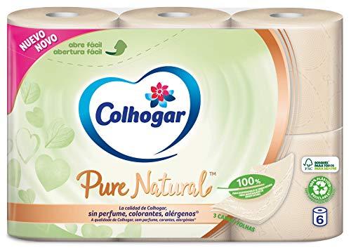 Colhogar Papel Higiénico Pure Natural 6 Rollos