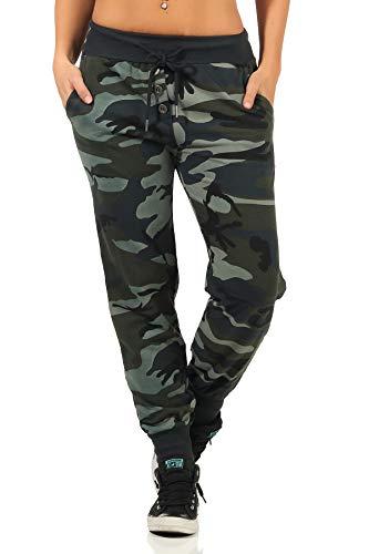 Danaest Damen Sporthose Camouflage (499) (M, Armee)