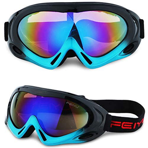 MaiTian Skibril enkele volwassenen spiegel kinderen windbril stof bergbeklimmen glazen outdoor sporttoestellen Large blauw