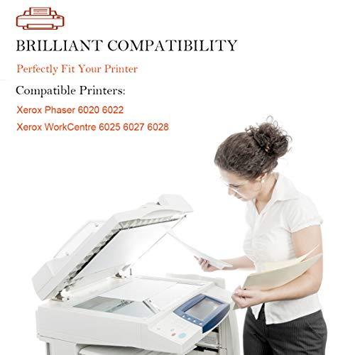 Aseker Compatible Cartuchos de Tóner para Xerox Phaser 6020 6022 WorkCentre 6025 6027 6028 Impresoras, Altos Rendimientos 2000 Páginas, 4106R02759 (2Negro)