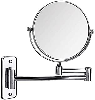 BMJ&C Makeup Mirror, 6/8 Inch 3X Magnifying Shaving Mirror Double-Sided Extendable Bathroom Mirror (Size : 8 inch)