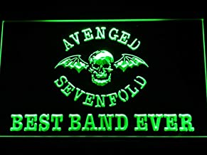 TeroLED Avenged Sevenfold Best Band Ever 30cm x 20cm Led 3D Engraved Neon Sign Green