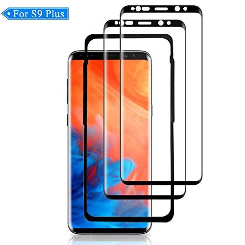 LUTONG S9 Plus Vetro Temperato, [2 Pack] [Curva 3D] [Copertura Completa] Pellicola Protettiva, [Telaio di Installazione], [9H Durezza][Senza Bolle] HD Protezione Schermo per Samsung Galaxy S9 Plus