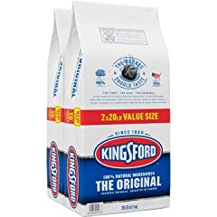 Get ready for BBQ season Convenient two-pack of charcoal briquets Ready to grill in 15 minutes Kingsford is sure to make everything delicious