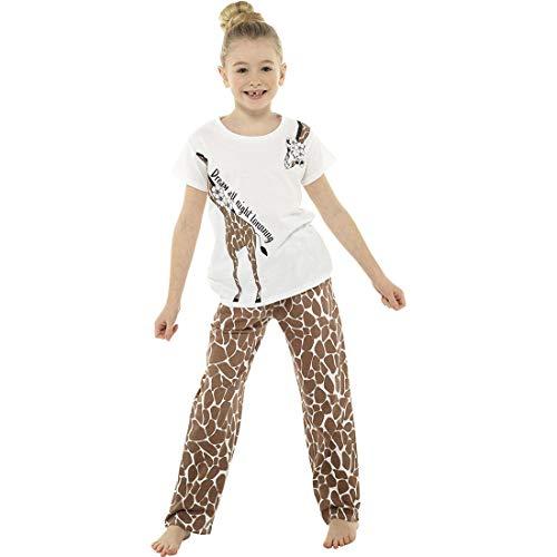 Mädchen Giraffe Muster Schlafanzug 13 Jahre