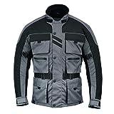 Chaqueta de moto con 6 bolsillos para hombre Riding Warrior Textil Racing Moto Hi-Vis Biker CE Blindado | Chaquetas impermeables