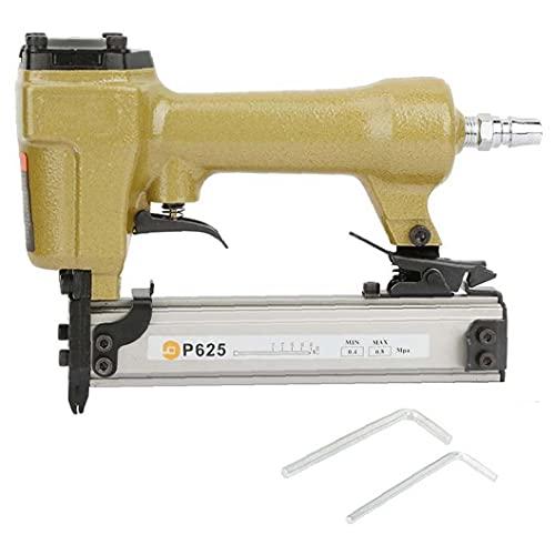 fregthf Aire Pin Clavadora Grapadora neumática P625 10-25mm Clavo de la Herramienta...