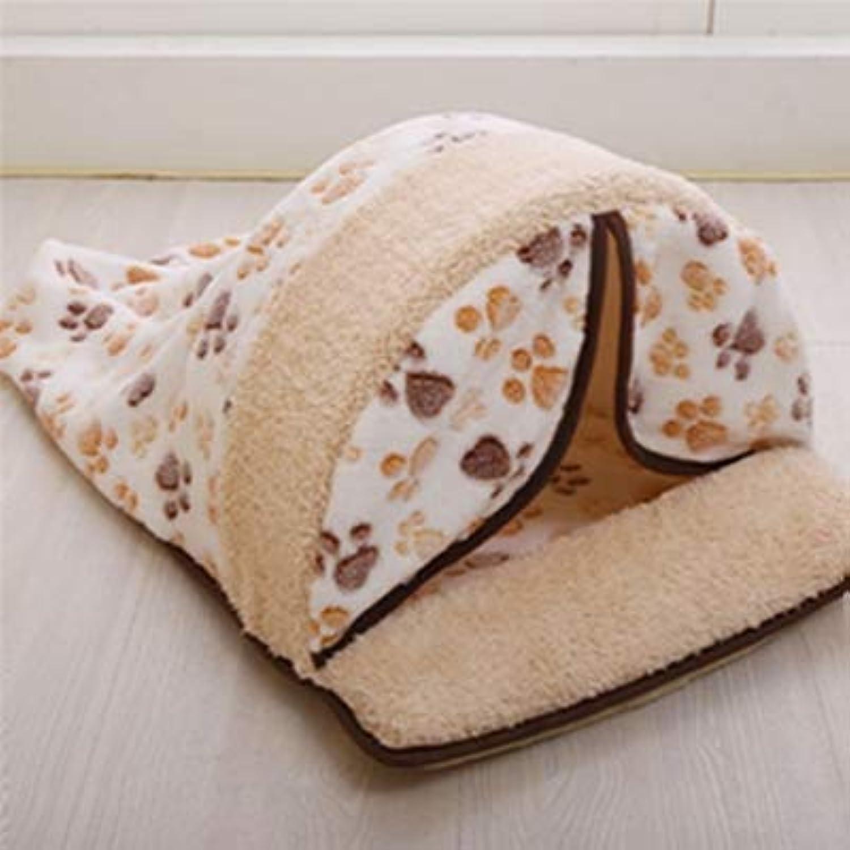 Pet Dog Puppy Cat Warm Sleeping Cushion Bed House Non-Slip Hut Basket Kennel Sofa Washable Mat Bag Cartoon Little Dog Kennel