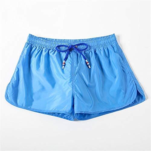 Push Up Pad Herren Badeshorts for Männer Badehose Strand-Kurze Hosen Schnell Trocken Badeanzug Man Surf Seaside (Color : Sky Blue, Size : XXL)