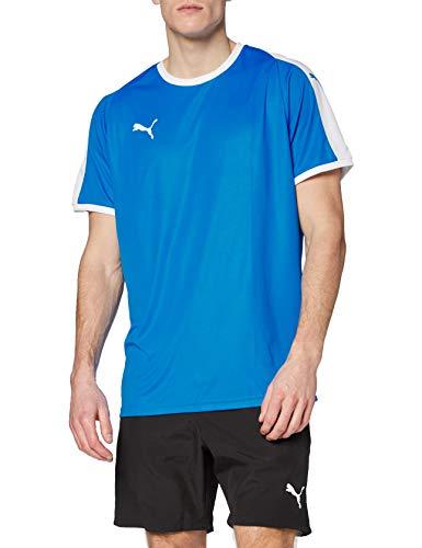 PUMA Liga Jersey Camiseta, Hombre, Azul (Electric Blue Lemonade/White), L