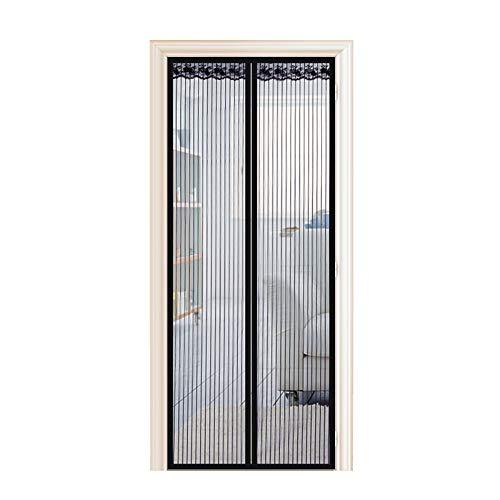 Preisvergleich Produktbild Enllonish Magnet Fliegengitter Tür Insektenschutz Balkontür Fliegenvorhang 100x220cm,  Klebemontage Ohne Bohren,  Der Magnetvorhang ist Ideal für Terrassentür,  Kellertür und Balkontür