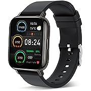 Smartwatch Fitness Armbanduhr Sportuhren 1.69 Voller Touch Screen Bluetooth IP67 Wasserdicht Smart Watch Schwarz, Fitness Tracker mit Schrittzähler Schlafmonitor Stoppuhr für Sportuhr Herren Fitness