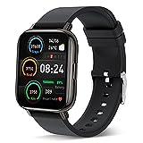 Smartwatch, Fitness Armbanduhr Sportuhren 1.69 Voller Touch Screen Wasserdicht Bluetooth Smart Watch Schwarz, Fitness Tracker mit Schrittzähler Schlafmonitor Stoppuhr für Herren Damen für iOS Android
