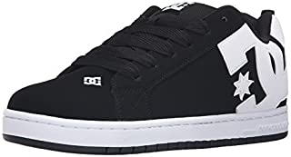 DC Shoes Men's Court Graffik Skate Shoes Black 7.5