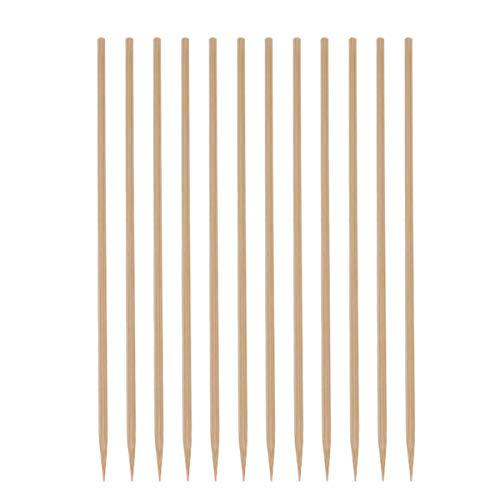 NUOBESTY 180 Stück Bambusspieße Bambusstöcke Einweg-Grillspieße Lebensmittelpicks Bratstangen für Grill Vorspeise Fruchtcocktail Schokoladenbrunnen Grillen