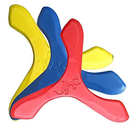 LMI und Fox–Boomerang Schaumstoff Natursport, Jay D, Blau, Gelb, Rot