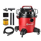 Vacmaster Red Edition VJF607PF 1101 Portable Wet Dry Shop Vacuum 6 Gallon 3 Peak HP 1-1/2 inch Hose