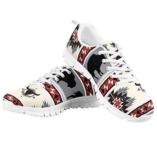 SEANATIVE Zapatillas de correr para mujer, para gimnasio, fitness, tenis de moda, color Gris, talla 40 EU
