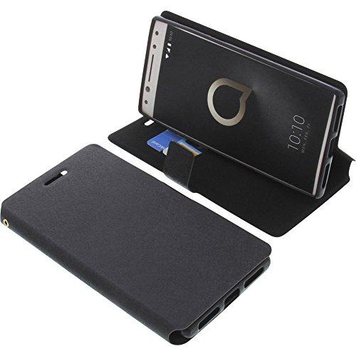 foto-kontor Tasche für Alcatel 5 (5086D) Book Style schwarz Schutz Hülle Buch