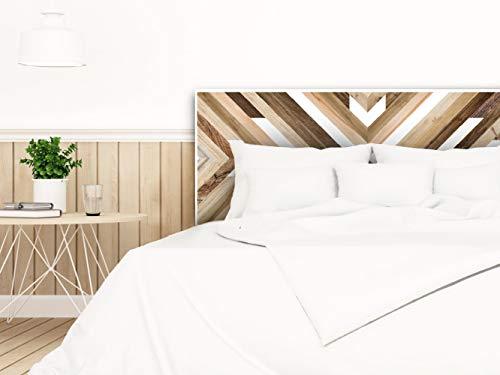 setecientosgramos Cabecero Cama PVC | Wood Deco | Varias Medidas | Fácil colocación | Decoración Dormitorio (200x60)