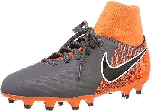 Nike JR Obra 2 Academy DF FG, Scarpe da Fitness Unisex-Bambini, Multicolore (Dark Grey/Black-Tota 080), 32 EU