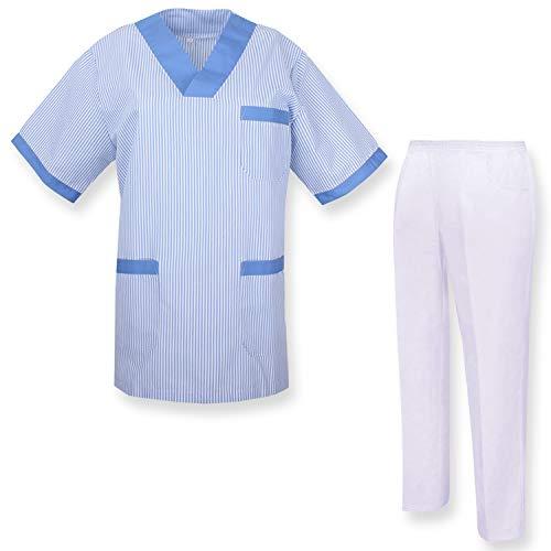 MISEMIYA - Medizinische Uniform mit Oberteil und Hose - Small, Hygienesets T817-4 Celetes