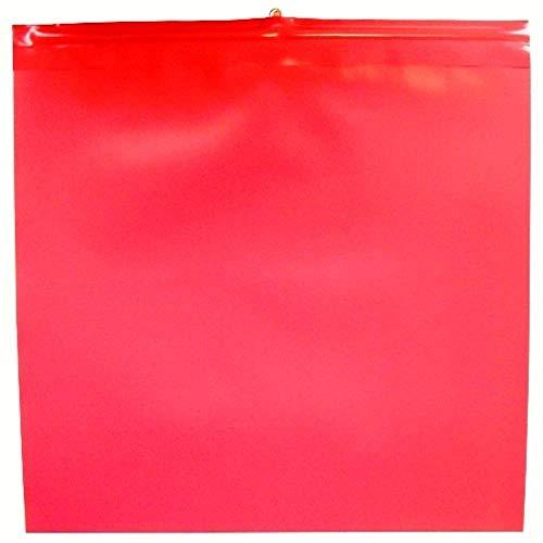 10x Warnfahne Warnflagge Endfahne Schlussfahne rot 30 x 30 cm