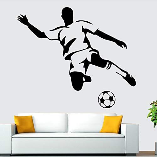 Fútbol niño etiqueta de la pared arte de la pared calcomanías murales habitación de los niños papel tapiz calcomanías póster fútbol para decoración de habitaciones de niños A4 58x67cm