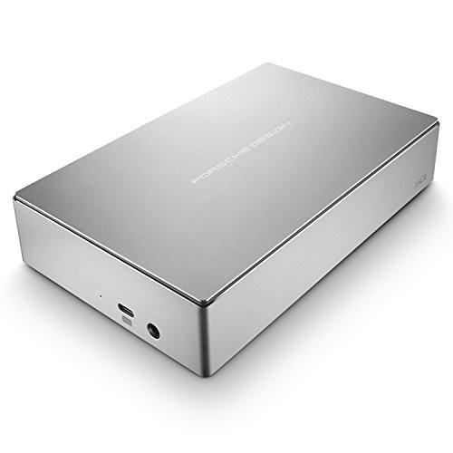 LaCie Porsche Design Desktop Drive 5 TB, externe Festplatte, 3.5 Zoll, USB 3.0, USB 3.1, USB-C, platin - STFE5000200