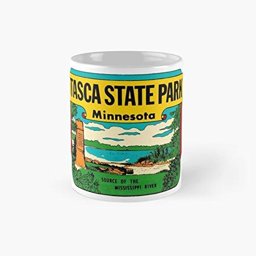 Itasca State Park Minnesota Vintage Travel Decal Classic Mug | Best Gift Funny Coffee Mugs 11 Oz