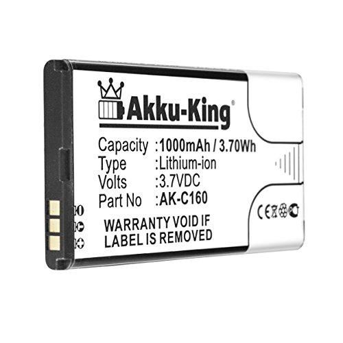 Akku-King Akku kompatibel mit Emporia C160, Eco - ersetzt AK-C160 - Li-Ion 1000mAh