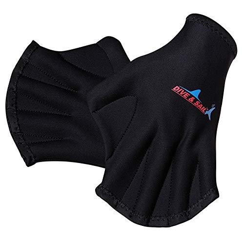 JHOOOD Schwimmhandschuhe Aquatic Handschuhe Swim Gloves Wasser Training Gloves Neopren Schwimmhandschuhe Wasserdicht Schwimmhandschuhe SwimPaddles Ideal für Wassergymnastik Schwimmen Aqua Zumba