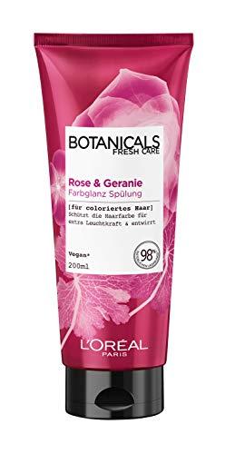 Botanicals Farbglanz Spülung, für coloriertes Haar, mit Rose und Geranie, schützt die Haarfarbe und bringt sie zum leuchten, 1er Pack (1 x 200 ml)